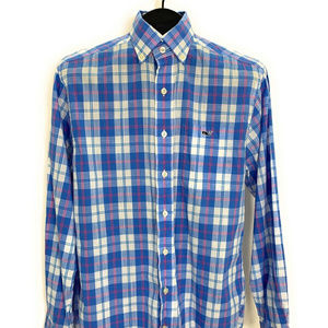 Vineyard Vines Classic Fit Tucker Shirt S Blue